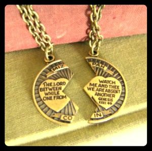 Jewelry - Lovely Mizpah Coin Blessing Necklace